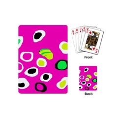Pink abstract pattern Playing Cards (Mini)