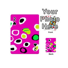 Pink abstract pattern Playing Cards 54 (Mini)