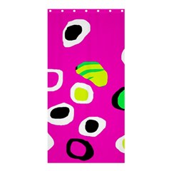 Pink abstract pattern Shower Curtain 36  x 72  (Stall)