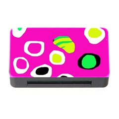 Pink abstract pattern Memory Card Reader with CF
