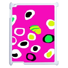 Pink abstract pattern Apple iPad 2 Case (White)