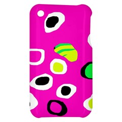 Pink abstract pattern Apple iPhone 3G/3GS Hardshell Case