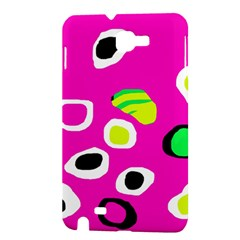 Pink abstract pattern Samsung Galaxy Note 1 Hardshell Case