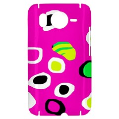 Pink abstract pattern HTC Desire HD Hardshell Case