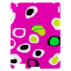 Pink abstract pattern Apple iPad 2 Hardshell Case