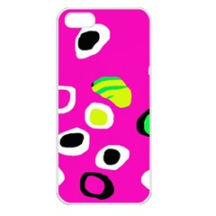 Pink abstract pattern Apple iPhone 5 Seamless Case (White)