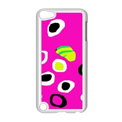 Pink abstract pattern Apple iPod Touch 5 Case (White)
