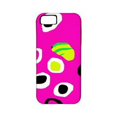 Pink abstract pattern Apple iPhone 5 Classic Hardshell Case (PC+Silicone)