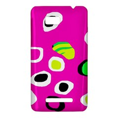 Pink abstract pattern HTC One SU T528W Hardshell Case