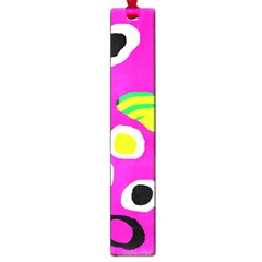 Pink abstract pattern Large Book Marks