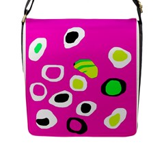 Pink abstract pattern Flap Messenger Bag (L)