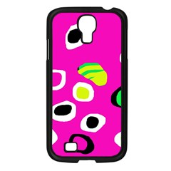 Pink abstract pattern Samsung Galaxy S4 I9500/ I9505 Case (Black)