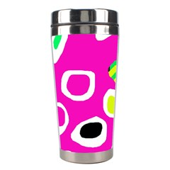 Pink abstract pattern Stainless Steel Travel Tumblers
