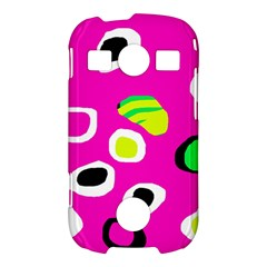 Pink abstract pattern Samsung Galaxy S7710 Xcover 2 Hardshell Case