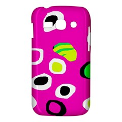 Pink abstract pattern Samsung Galaxy Ace 3 S7272 Hardshell Case