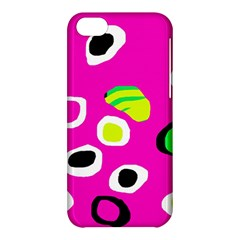 Pink abstract pattern Apple iPhone 5C Hardshell Case