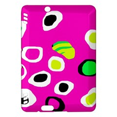 Pink abstract pattern Kindle Fire HDX Hardshell Case