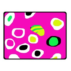 Pink abstract pattern Double Sided Fleece Blanket (Small)