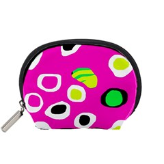 Pink Abstract Pattern Accessory Pouches (small)