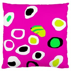 Pink abstract pattern Large Flano Cushion Case (One Side)