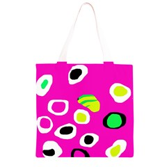 Pink abstract pattern Grocery Light Tote Bag