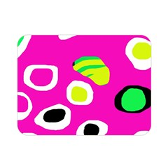 Pink abstract pattern Double Sided Flano Blanket (Mini)