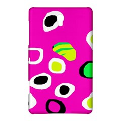 Pink abstract pattern Samsung Galaxy Tab S (8.4 ) Hardshell Case