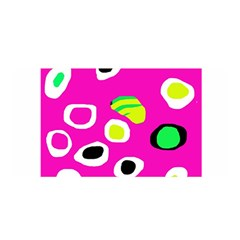 Pink abstract pattern Satin Wrap