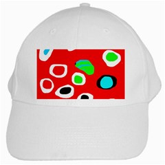 Red abstract pattern White Cap