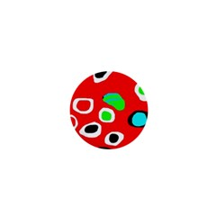 Red abstract pattern 1  Mini Magnets
