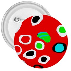 Red abstract pattern 3  Buttons
