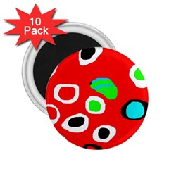Red abstract pattern 2.25  Magnets (10 pack)