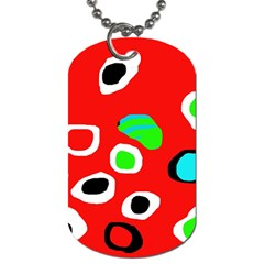 Red abstract pattern Dog Tag (Two Sides)