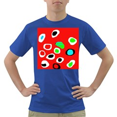 Red abstract pattern Dark T-Shirt