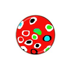 Red abstract pattern Hat Clip Ball Marker (10 pack)