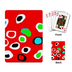 Red abstract pattern Playing Card