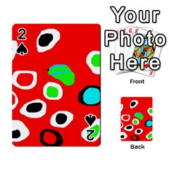 Red abstract pattern Playing Cards 54 Designs