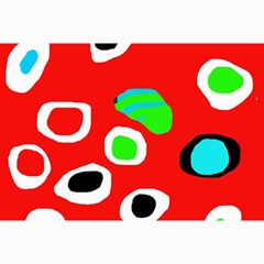 Red abstract pattern Collage Prints