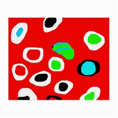Red abstract pattern Small Glasses Cloth (2-Side)