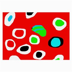 Red abstract pattern Large Glasses Cloth (2-Side)