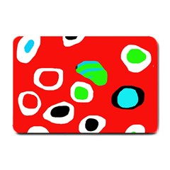 Red abstract pattern Small Doormat