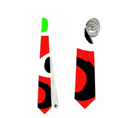 Red abstract pattern Neckties (Two Side)