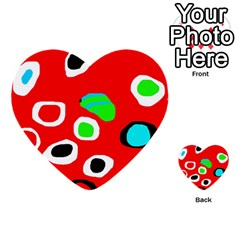 Red abstract pattern Multi-purpose Cards (Heart)