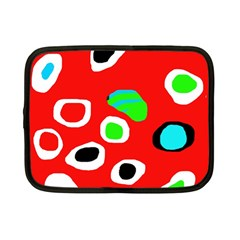 Red abstract pattern Netbook Case (Small)
