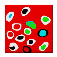 Red abstract pattern Face Towel