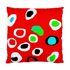 Red abstract pattern Standard Cushion Case (One Side)