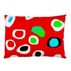 Red abstract pattern Pillow Case