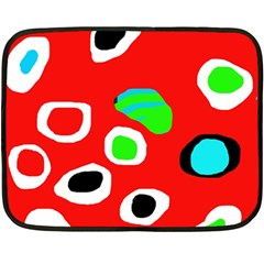 Red abstract pattern Double Sided Fleece Blanket (Mini)