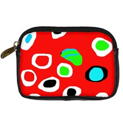 Red abstract pattern Digital Camera Cases