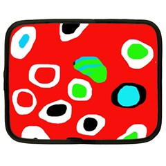 Red abstract pattern Netbook Case (XXL)